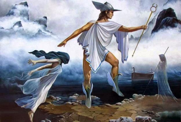 Гермес всегда носил свои летающие сандали